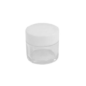 Small Clear Plastic Jar White