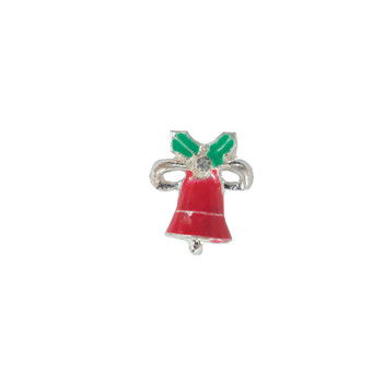 Red Bell Silver Charm