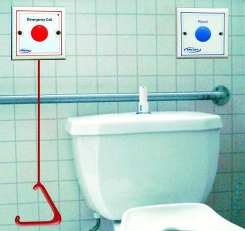 Bathroom Pull Cord Alarm Kit National Call Systems