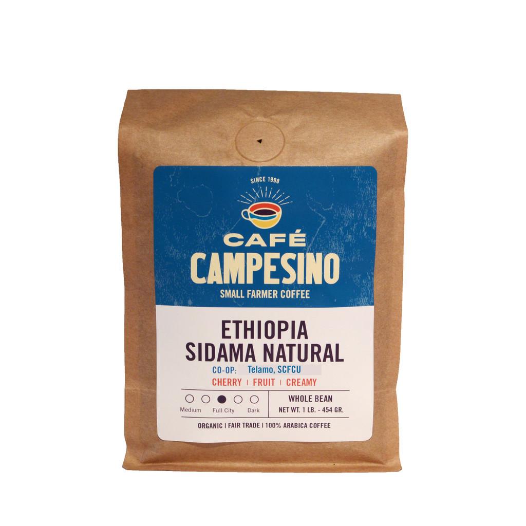 Ethiopia Sidama NATURAL Full City Roast Coffee