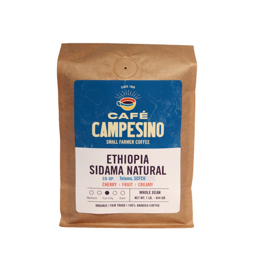Ethiopia Sidama NATURAL Full City Roast Coffee