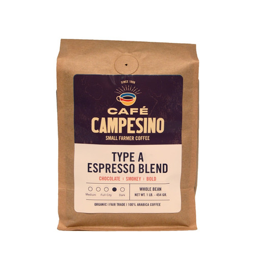 Type A Espresso Blend French Roast Coffee