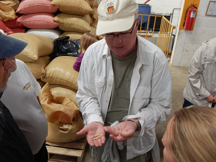 Bill Harris visits cooperative trading partners for the Café Campesino wholesale fair trade coffee program