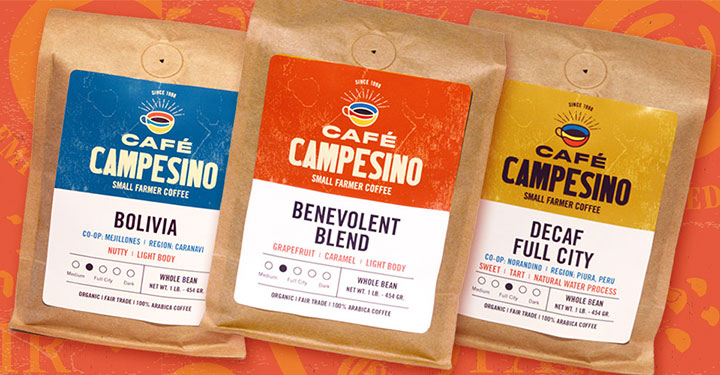 Cafe Campesino wholesale coffee packaging