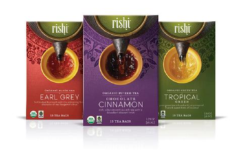 Cafe Campesino carries wholesale Rishi organic teas.