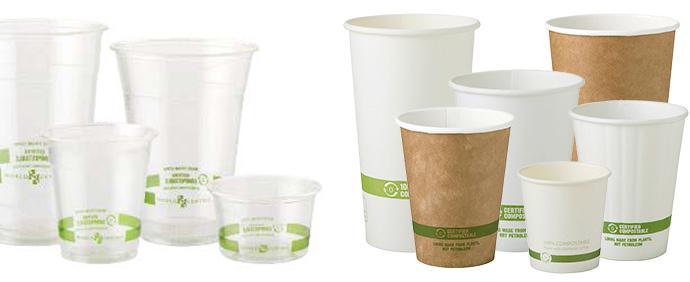 World Centric Compostable to go cups, cutlery and containers