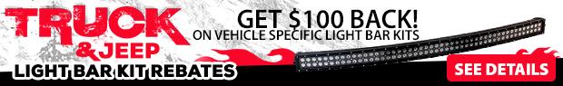 Truck & Jeep Window Light Bar Kits Rebates