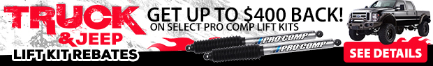 Up to $400 off on Lift Kits!