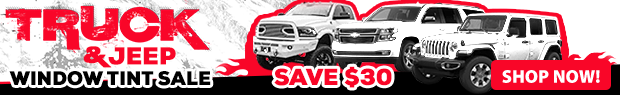 Truck & Jeep Window Tint Sale!
