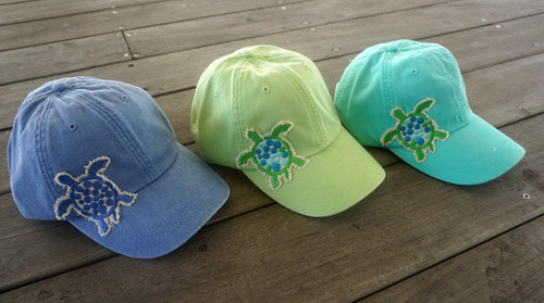 Hat with Sea Turtle Applique