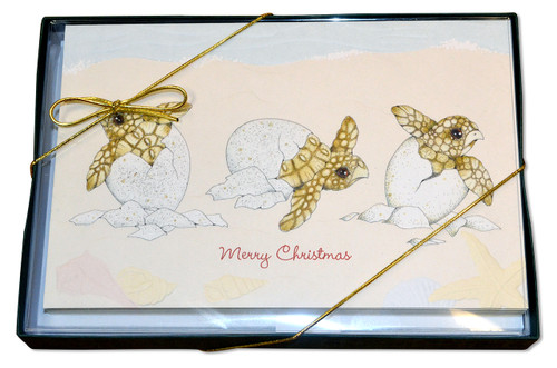 Christmas Card Turtle Tidings