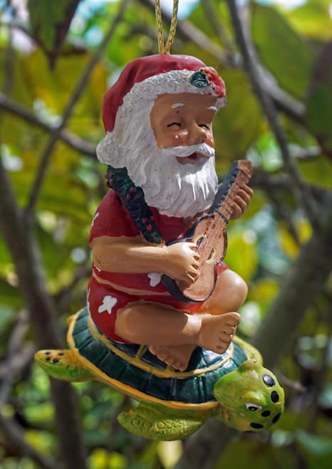 Hawaiian Santa with Turtle