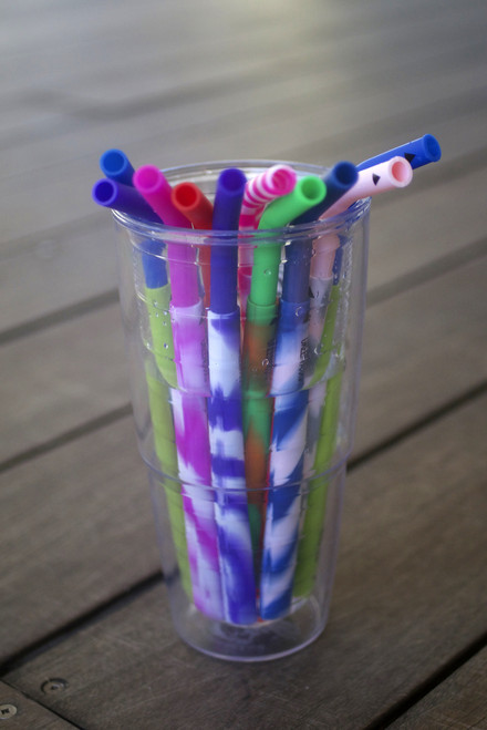 Cool Straws - Two Piece Reusable Silicone