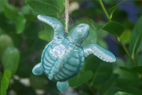 Porcelain Turtle Ornament
