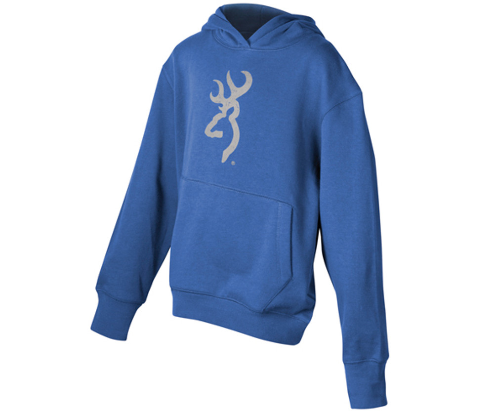 Browning Youth Buckmark Hoody, Olympian Blue