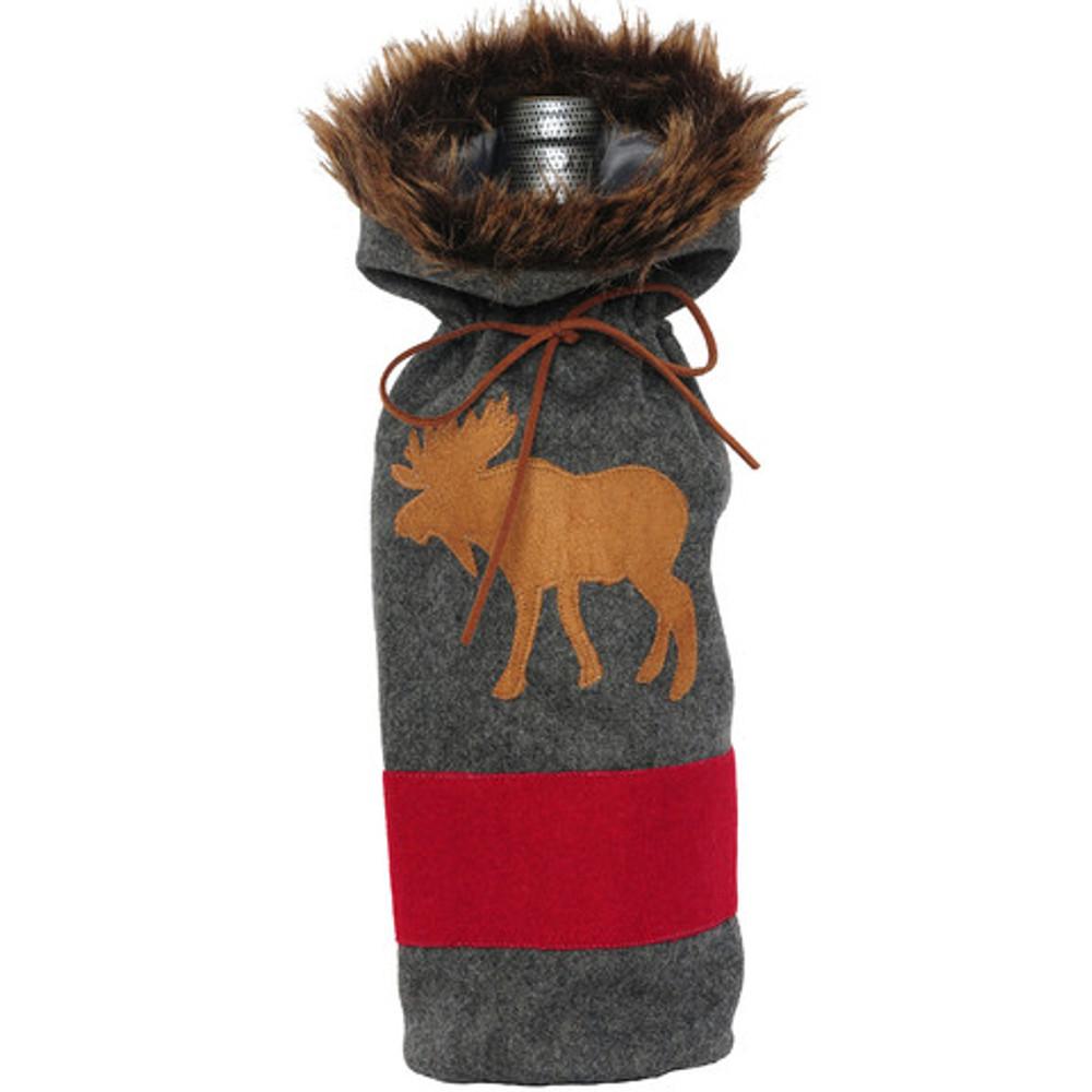 Bottle Cover, Grey Blanket Moose