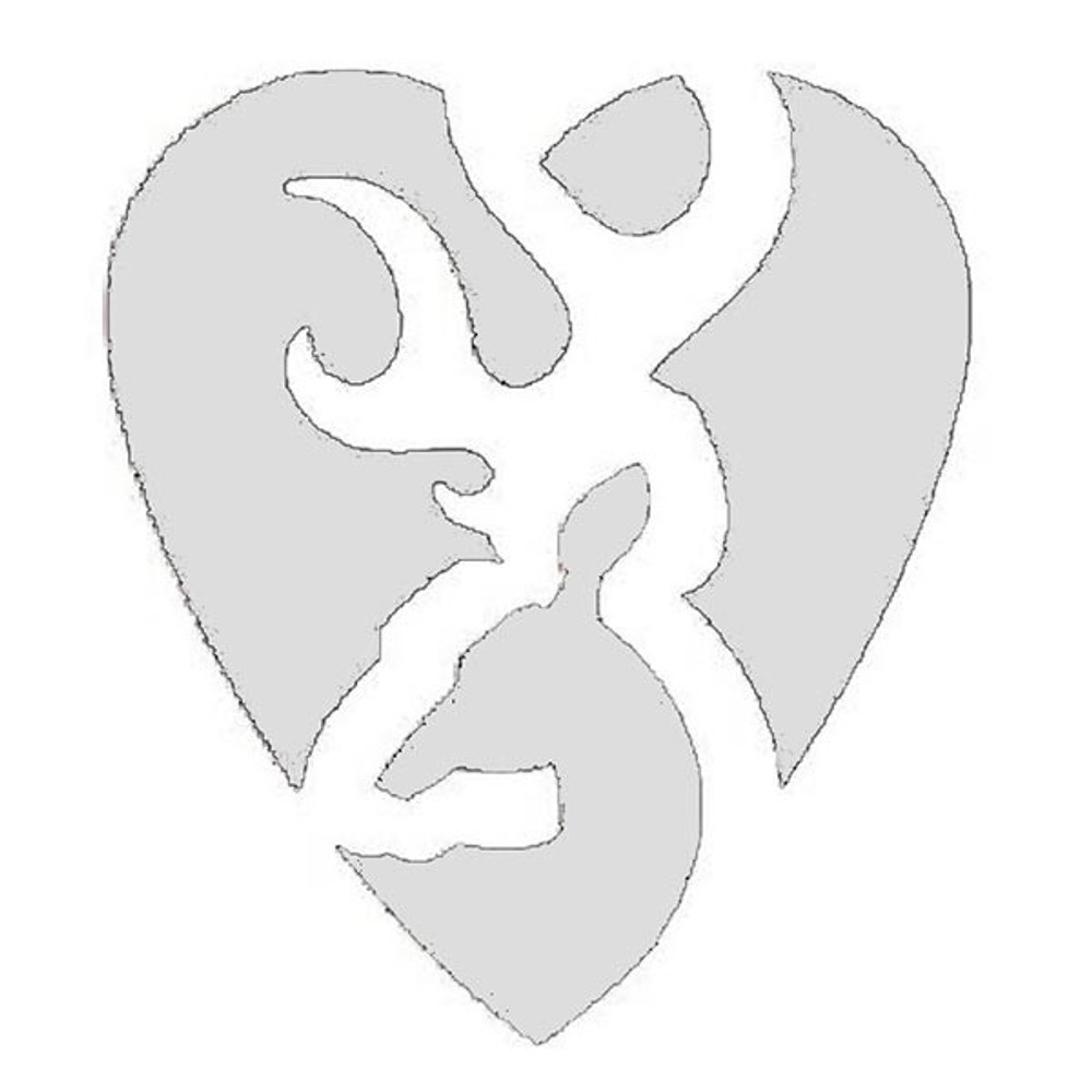 Browning Decal, Heartbreaker 5""