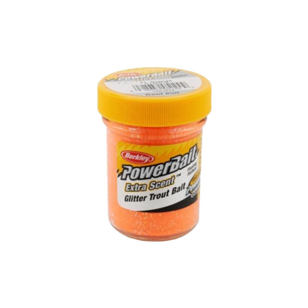 PowerBait Extra Scent Trout Bait With Glitter, 50 g In Florescent Orange
