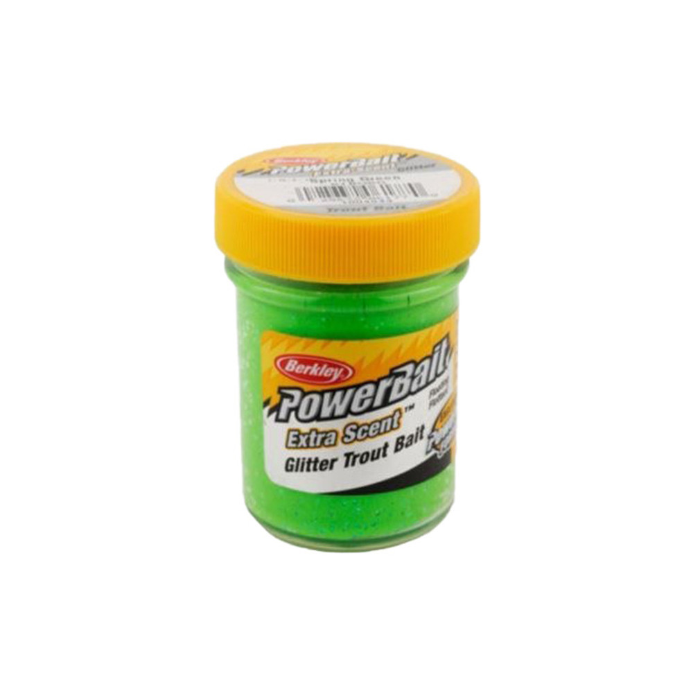 PowerBait Extra Scent Trout Bait With Glitter, 50 g In Spring Green
