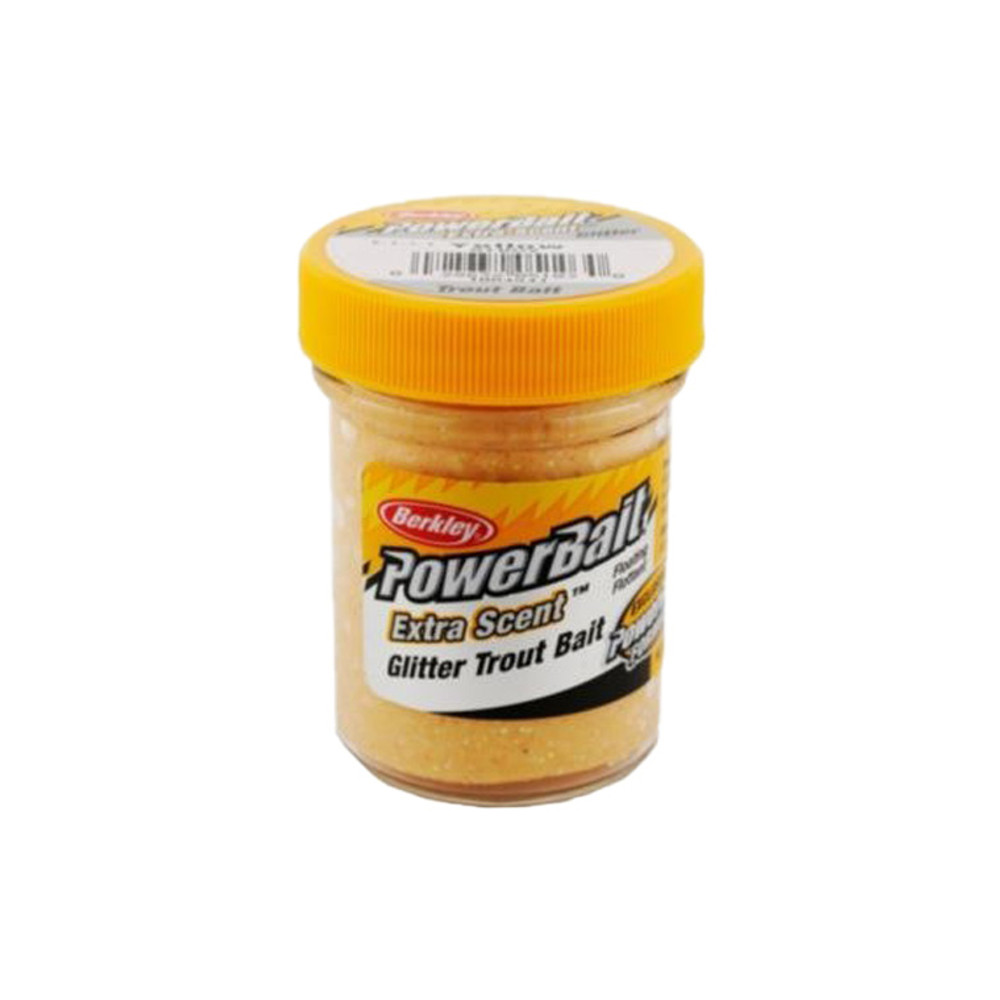 PowerBait Extra Scent Trout Bait With Glitter, 50 g In Yellow