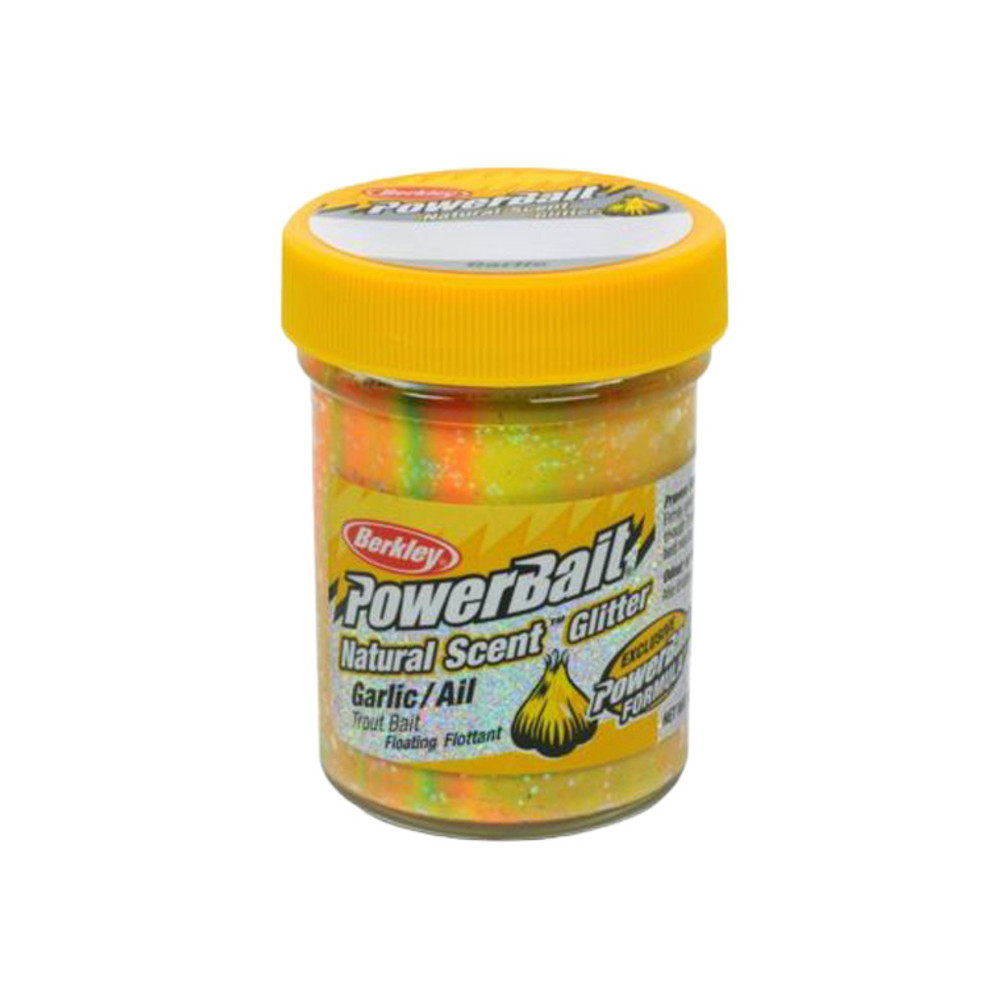 PowerBait Natural Scent Trout Bait With Glitter, 50 g In Rainbow - Garlic