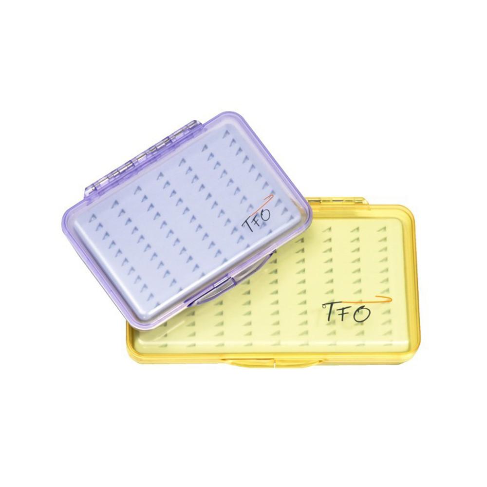 TFO Clear Slit Foam Fly Box, Medium