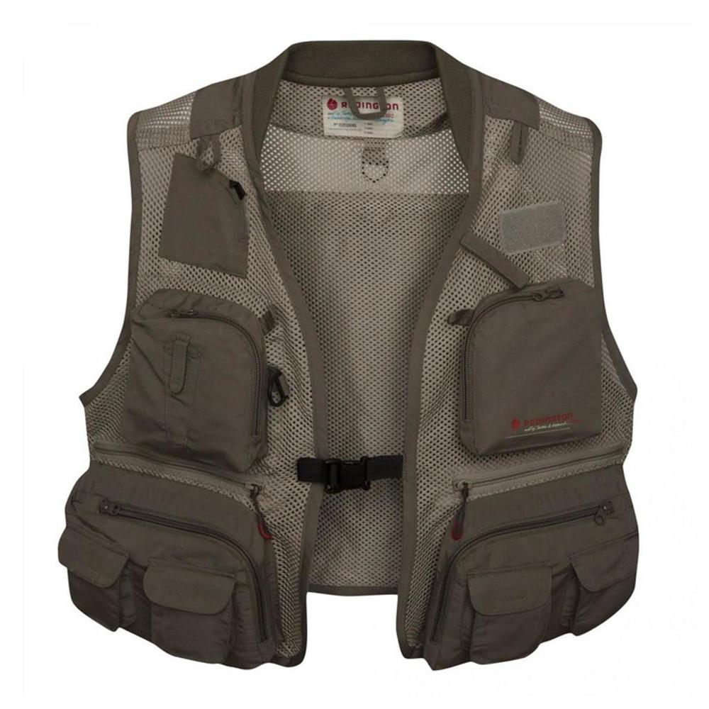 Redington First Run Fishing Vest, Grit/Terra - Front View