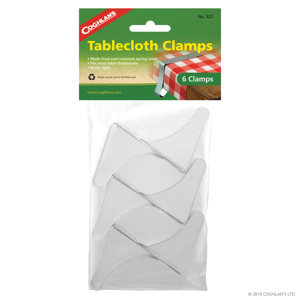 Coghlans Tablecloth Clamps, 6 pk