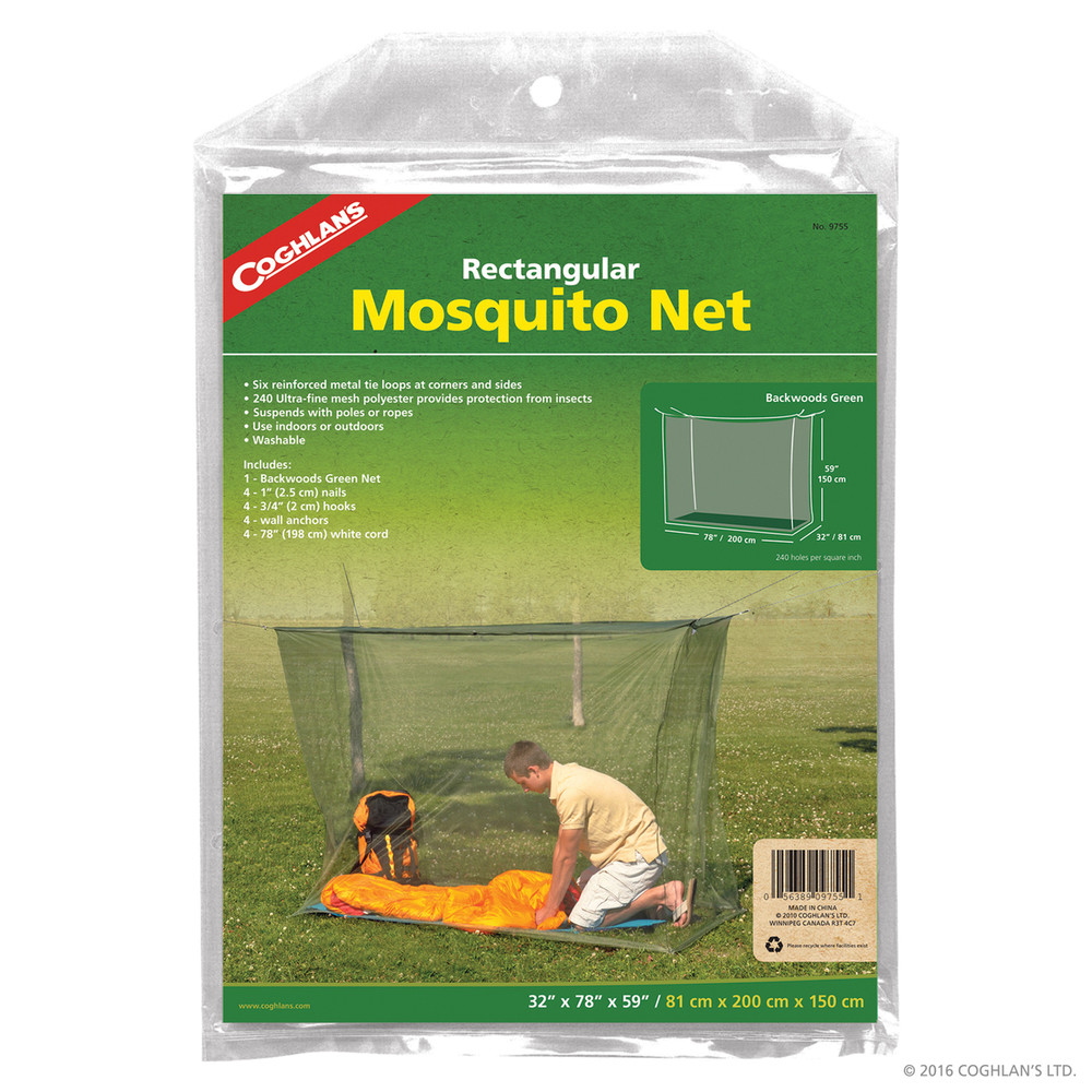 Coghlans Rectangular Mosquito Net, Green
