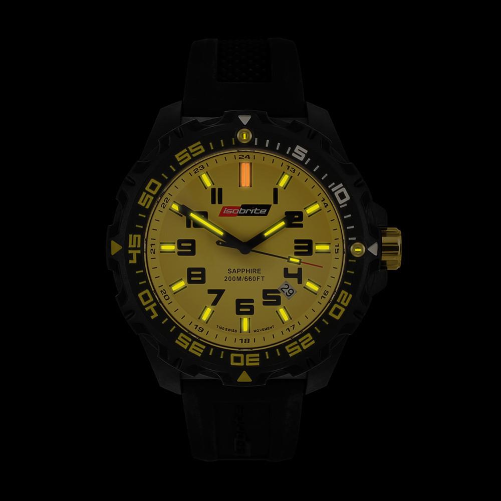Isobrite Valor Series - Yellow Dial - Illumination: Swiss-Made T100 tritium markers