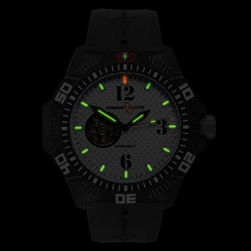 ArmourLite Caliber Series Whit Face/Black Band - Illumination: Swiss-Made T25 tritium markers