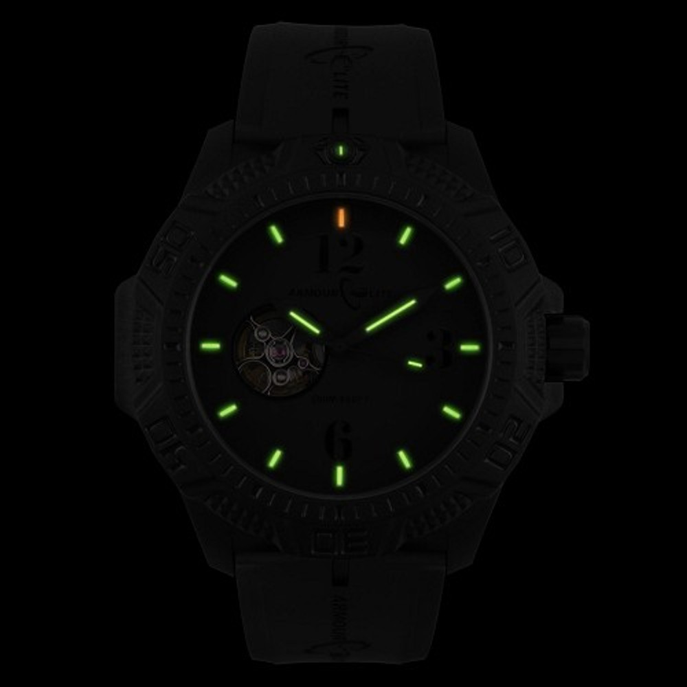 ArmourLite Caliber Series Black Face/Black Band - Illumination: Swiss-Made T25 tritium markers