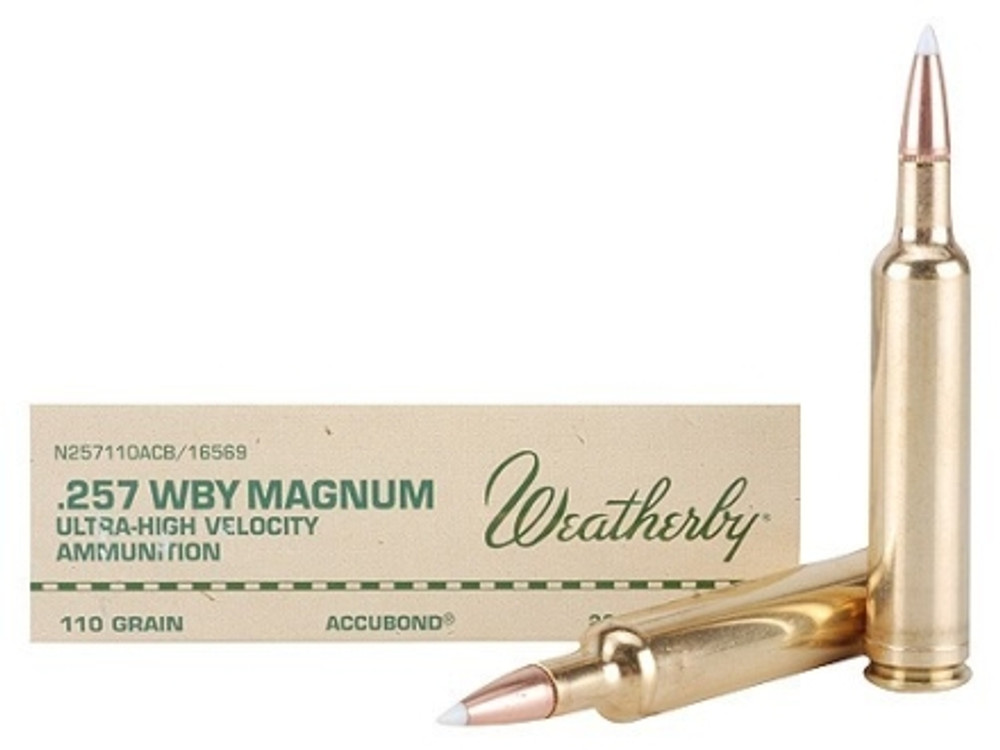 Weatherby Ammo, 257 Wby Mag, 110 Gr Accubond