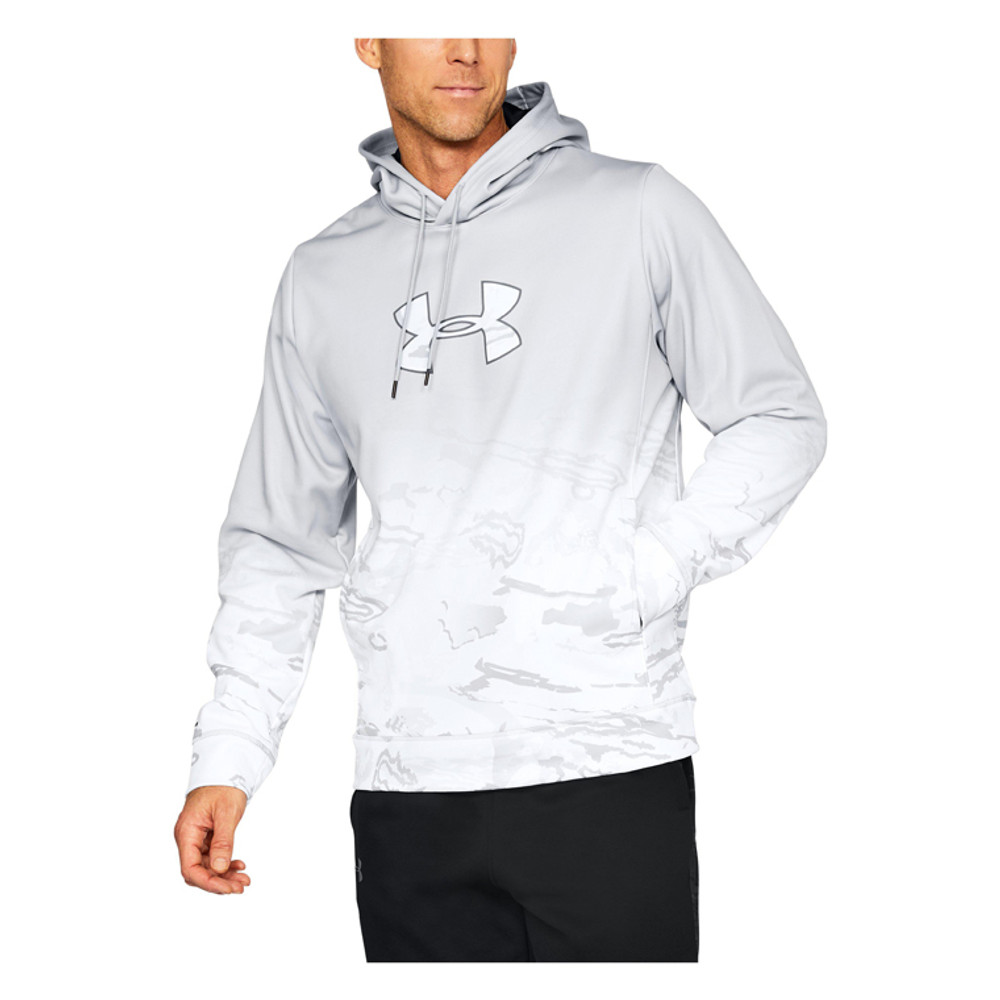 UA Men's Faded Caliber Hoodie In Gray / White