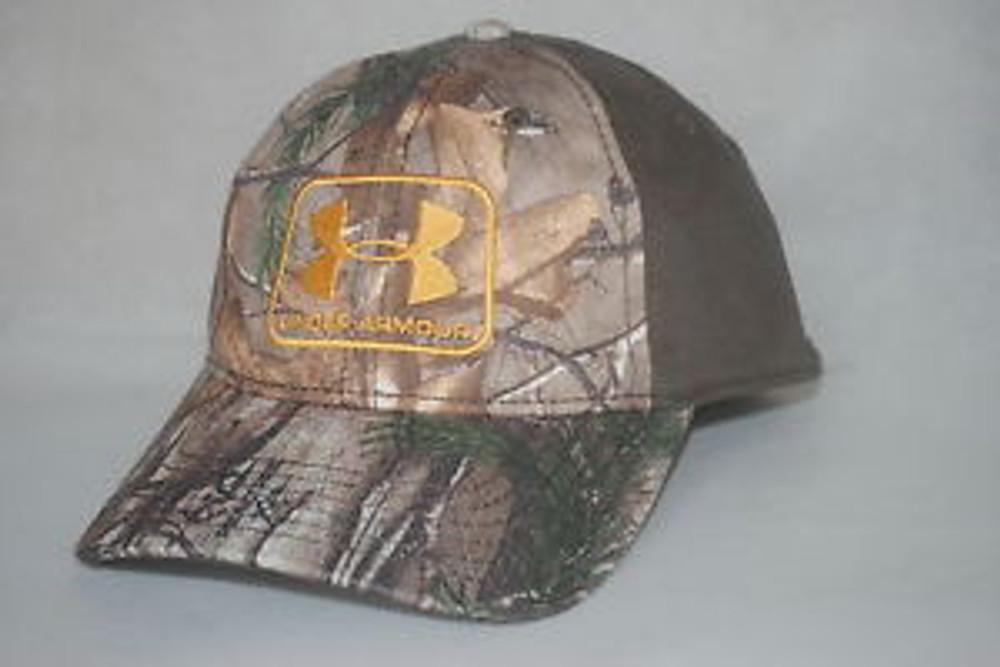 UA Camo Flex Fit Hat, RTX/Ochre