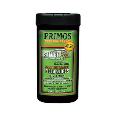 Primos Silver XP Scent Eliminating Field Wipes, 20 pk