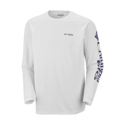 Columbia PFG Terminal Tackle LS In White