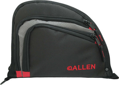 Allen Auto-Fit Handgun Case, Black/Red/Grey