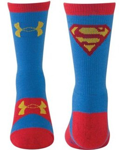 UA Youth Heat Gear Performance Sock, Superman