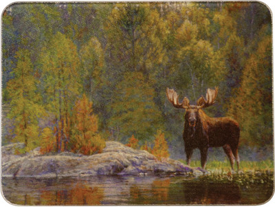 Rivers Edge Tempered Glass Cutting Board, Moose