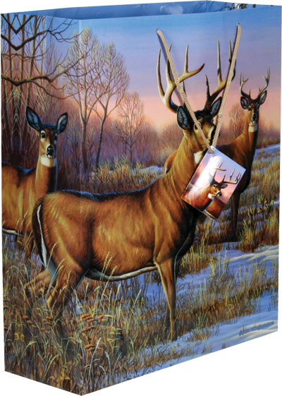 Rivers Edge Large Gift Bag, Deer
