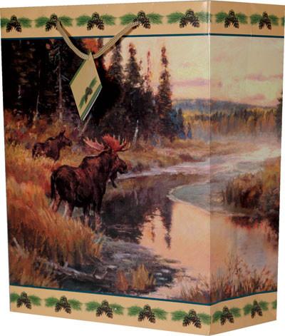 Rivers Edge Medium Gift Bag, Moose