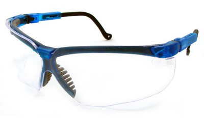 Uvex Genesis Safety Glasses, Blue/Clear
