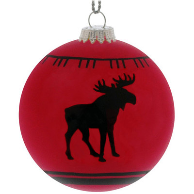 Christmas Ornament, Red Moose Blanket