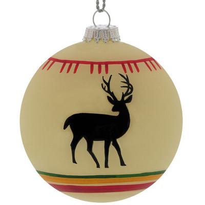 Christmas Ornament, White Deer Blanket