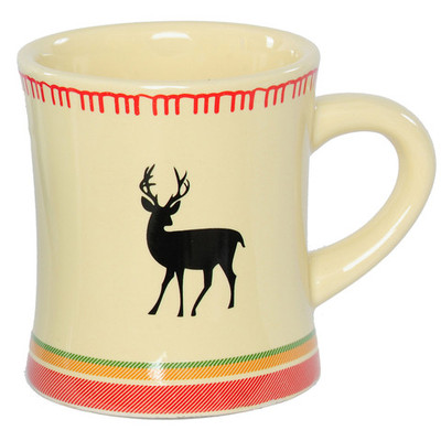 Outside Inside White Deer Blanket Mug