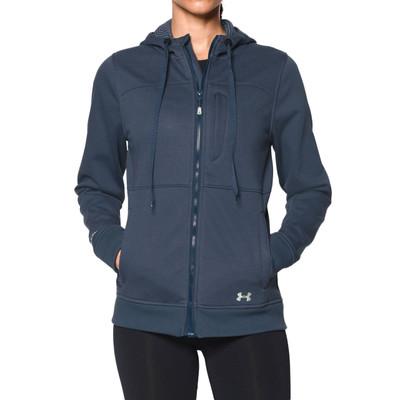 UA Womens Dobson Softshell Jacket, Mechanic Blue/Sugar Mint