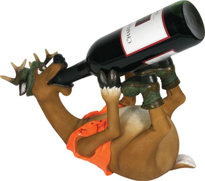 Rivers Edge Wine Holder, Deer