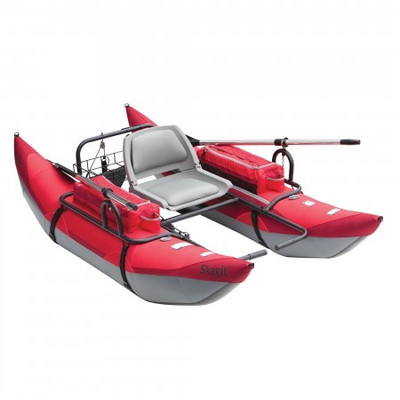 Classic Skagit Pontoon Boat, Red, 8'