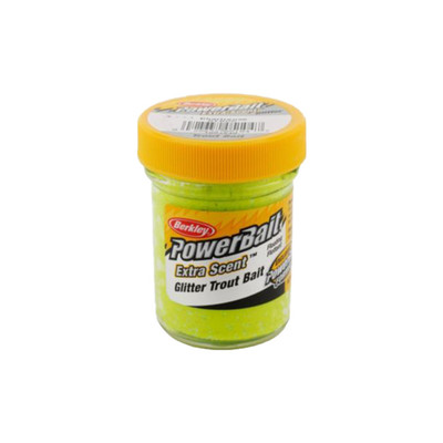 PowerBait Extra Scent Trout Bait With Glitter, 50 g In Chartreuse